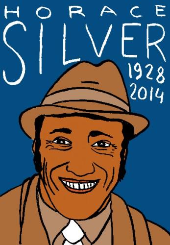 Mort d'horace silver,dessin,portrait,répertoire des macchabées célèbres,jazz