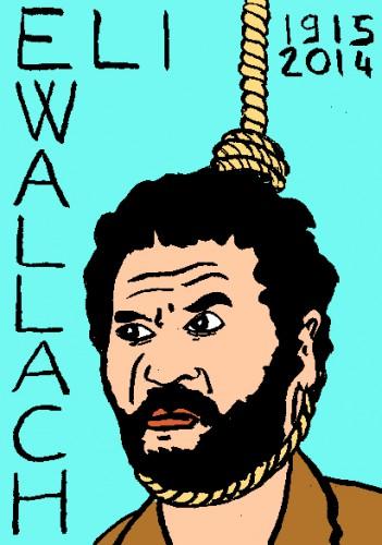 mort d'eli wallach,dessin,portrait. Laurent Jacquy. Répertoire des macchabées célèbres,mort d'homme