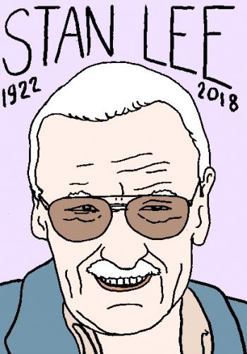 mort de Stan Lee, dessin, portrait, laurent jacquy,répertoire des macchabées célèbres,mort d'homme,