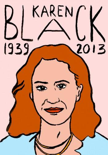 Karen Black,dessin,portrait,laurent jacquy,art singulier,french outsider,les beaux dimanches,répertoire des macchabées célèbres