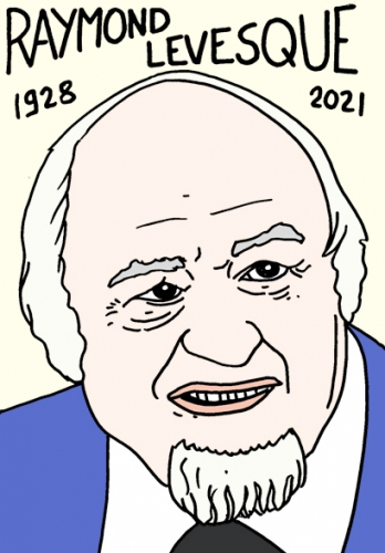mort de Raymond Levesque,dessin,portrait,laurent Jacquy