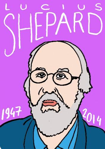 mort de lucius shepard,dessin,portrait,laurent jacquy,répertoire des macchabées célèbres,mort d'homme