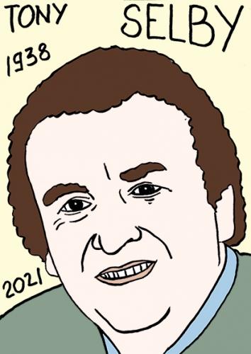 mort de Tony Selby,dessin,portrait,laurent Jacquy