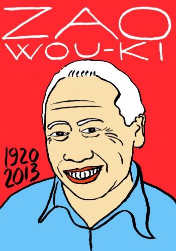 Zao Wou-Ki,mort d'homme,portrait,dessin,art modeste,laurent jacquy,french outsider