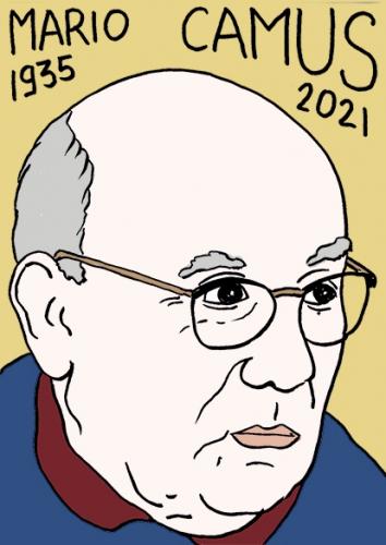 mort de Mario Camus,dessin,portrait,laurent Jacquy