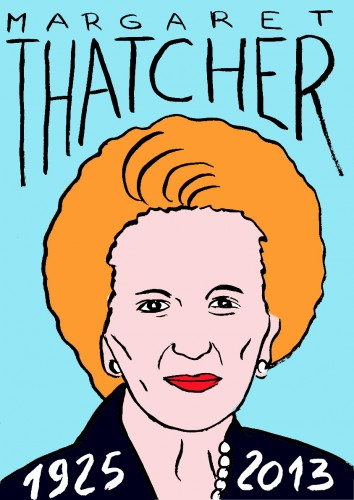 Margaret Thatcher,maggie thatcher,portrait,dessin,laurent Jacquy,mort d'homme,Les beaux dimanches,art singulier,french outsider