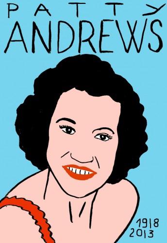 Patty Andrews,Portrait,dessin,laurent Jacquy,french Outsideur,Célébrité,mort,répertoire des macchabées célèbres,décés,illustrateur,illustration