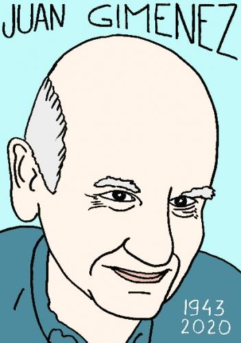 mort d'e Juan Giménez, dessin, portrait, laurent jacquy,répertoire des macchabées célèbres,mort d'homme,