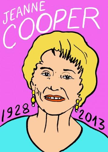 Jeanne Cooper,portrait,dessin,laurent jacquy,art modeste,art singulier,les beaux dimanches