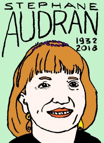 mort de stephane audran, dessin, portrait, laurent jacquy,répertoire des macchabées célèbres,mort d'homme,