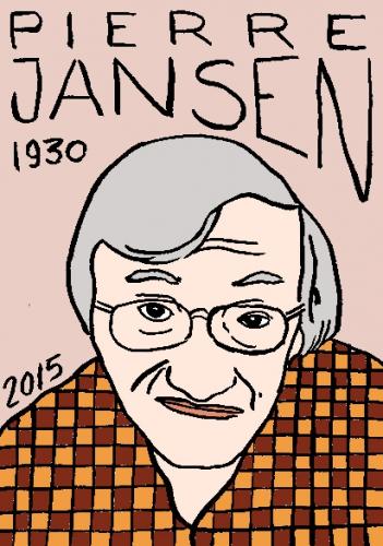 mort de Pierre Jansen, dessin, portrait, laurent jacquy,répertoire des macchabbées célèbres, visage,mort d'homme