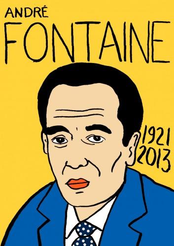André Fontaine,Portrait,dessin,laurent Jacquy,french Outsideur,Célébrité,mort,répertoire des macchabées célèbres,décés,mort d'homme,illustrateur,illustration,Les Beaux Dimanches