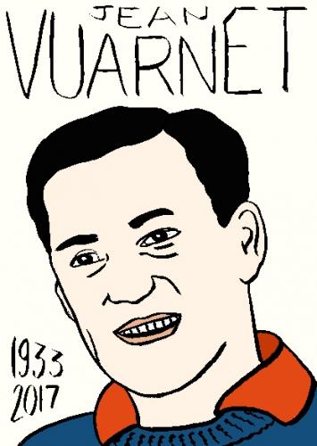 mort de jean vuarnet, dessin, portrait, laurent jacquy,répertoire des macchabées célèbres,mort d'homme,