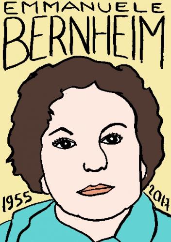 mort d'emmanuele bernheim dessin, portrait, laurent jacquy,répertoire des macchabées célèbres,mort d'homme,