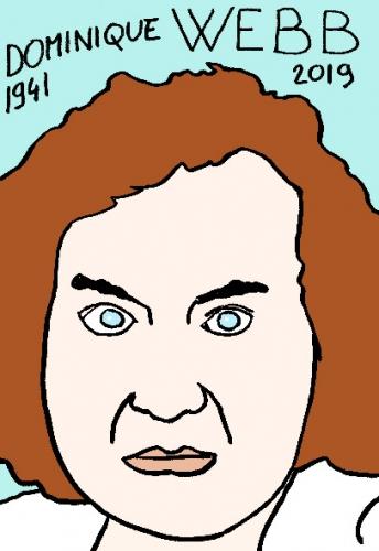 mort de Dominique Webb, dessin, portrait, laurent jacquy,répertoire des macchabées célèbres,mort d'homme,