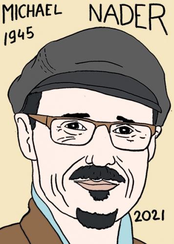 mort de Michael Nader,dessin,portrait,laurent Jacquy
