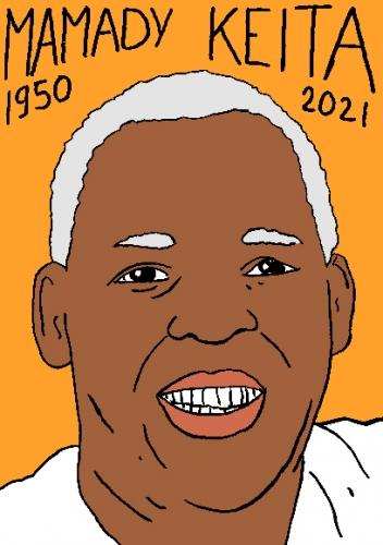 mort de Mamady Keita,dessin,portrait,laurent Jacquy,poésie
