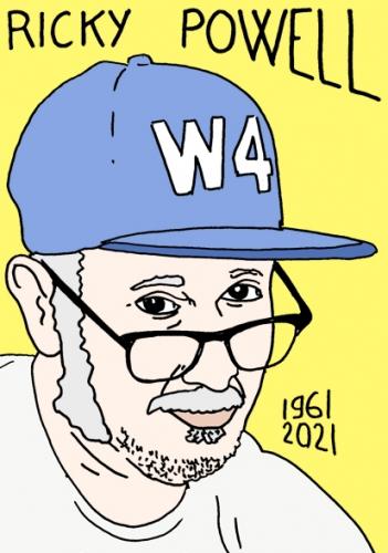 mort de Ricky Powel,dessin,portrait,laurent Jacquy