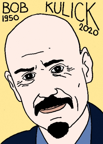 mort de Bob Kulick, dessin, portrait, laurent jacquy,répertoire des macchabées célèbres,mort d'homme,