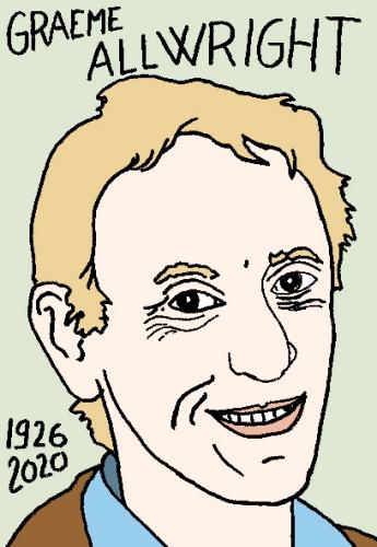 mort de Graeme Allwright, dessin, portrait, laurent jacquy,répertoire des macchabées célèbres,mort d'homme,