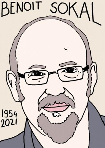 mort deBenoit Sokal,dessin,portrait,laurent Jacquy,poésie
