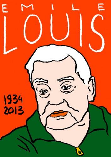 mort d'Emile Louis,dessin,portrait,laurent jacquy,mort d'homme,répertoire des macchabées célèbres,art modeste,art singulier