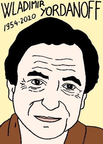 mort de Wladimir Yordanoff, dessin, portrait, laurent jacquy,répertoire des macchabées célèbres,mort d'homme,