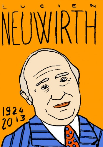 Mort de lucien neuwirth,dessin,portrait,laurent jacquy,mort d'homme,répertoire des macchabées célèbres,art modeste,les beaux dimanches