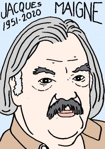 mort de Jacques Maigne, dessin, portrait, laurent jacquy,répertoire des macchabées célèbres,mort d'homme,