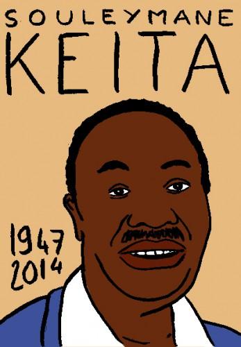 mort de souleymane keita,dessin,portrait,laurent jacquy,répertoire des macchabées célèbres