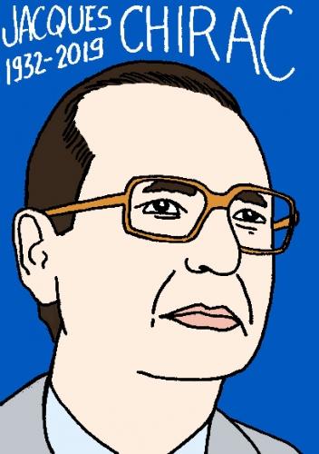 mort de Jacques Chirac, dessin, portrait, laurent jacquy,répertoire des macchabées célèbres,mort d'homme,