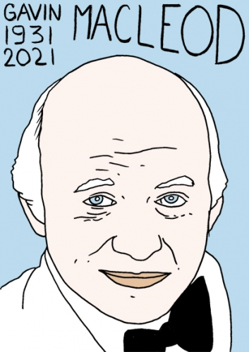 mort de Gavin MacLeod,dessin,portrait,laurent Jacquy,poésie