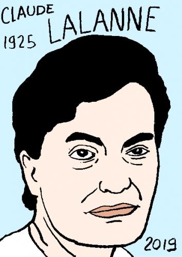 mort de Claude Lalanne, dessin, portrait, laurent jacquy,répertoire des macchabées célèbres,mort d'homme,