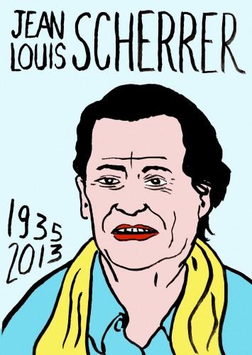 Jean-Louis Scherrer,dessin,portrait,art singulier,art modeste,Laurent Jacquy,Mort d'homme,les beaux dimanches