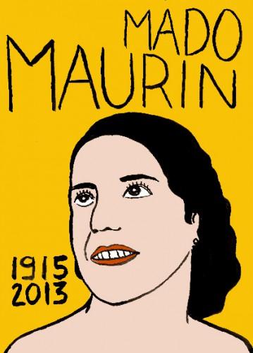 mort de mado maurin, dessin,portrait,laurent jacquy,mort d'homme,répertoire des macchabées célèbres,art modeste