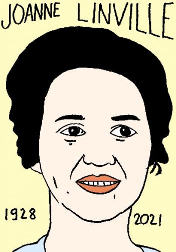 mort de Joanne Linville,dessin,portrait,laurent Jacquy