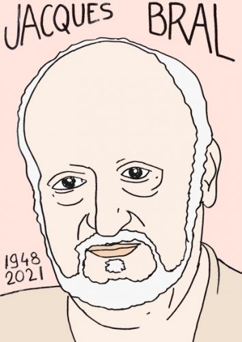 mort de Jacques Bral,dessin,portrait,laurent Jacquy