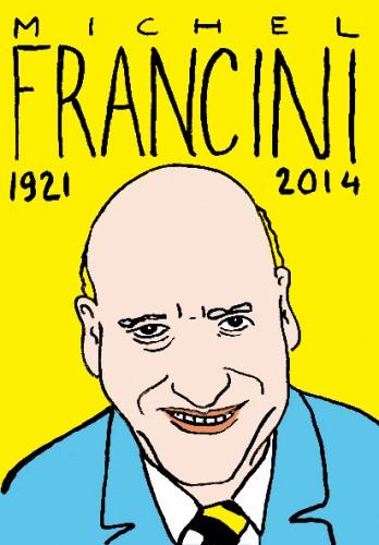 mort de michel francini,dessin,portrait,laurent jacquy,répertoire des macchabées célèbres,art modeste