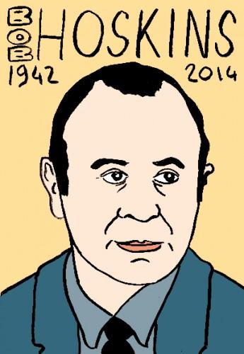 mort de bob hoskins,portrait,dessin,réeprtoire des macchabées célèbres,laurent jacquy