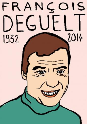 mort de François Deguelt,dessin,portrait,laurent jacquy,mort d'homme,répertoire des macchabées célèbres,mort d'homme,art modeste