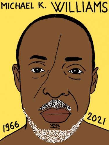 mort de Michael K. Williams,dessin,portrait,laurent Jacquy