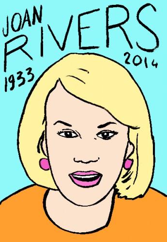 mort de joan rivers,dessin,portrait,laurent jacquy,répertire des macchabées célèbres