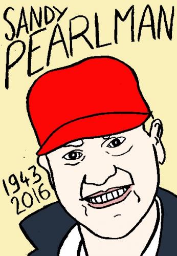 mort de sandy pearlamn, dessin, portrait, laurent jacquy,répertoire des macchabées célèbres,mort d'homme,