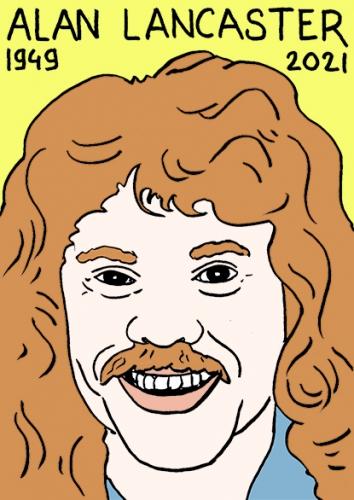 mort 'Alan Lancaster,dessin,portrait,laurent Jacquy