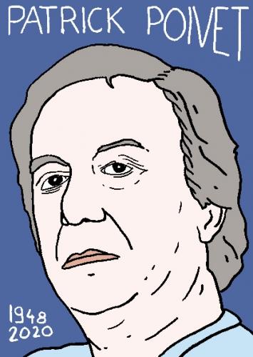 mort de Patrick Poivet, dessin, portrait, laurent jacquy,répertoire des macchabées célèbres,mort d'homme,