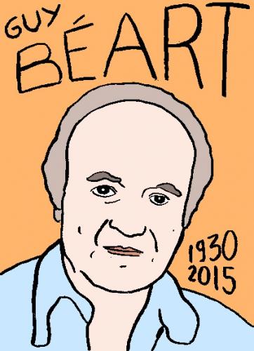 mort de guy Béart, dessin, portrait, laurent jacquy,répertoire des macchabbées célèbres, visage,mort d'homme