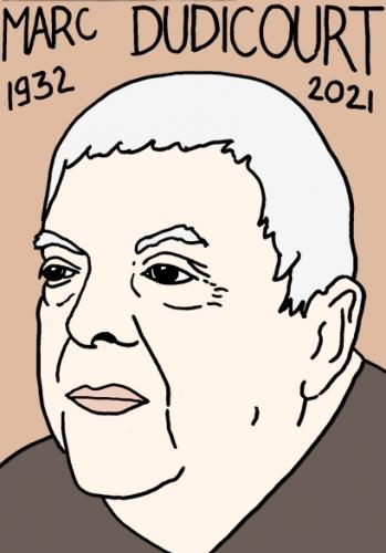 mort de Marc Dudicourt,dessin,portrait,laurent Jacquy,poésie