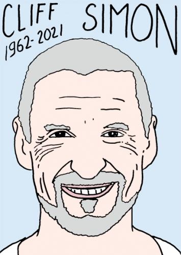 mort de Cliff Simon,dessin,portrait,laurent Jacquy