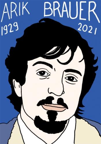 mort d'Arik Brauer,dessin,portrait,laurent Jacquy