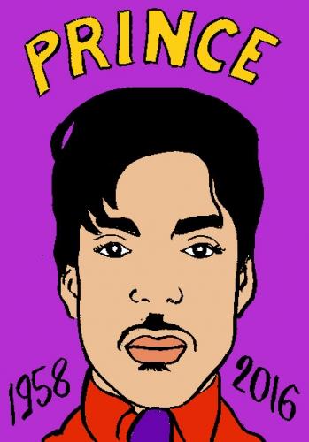 mort de Prince, dessin, portrait, laurent jacquy,répertoire des macchabées célèbres,mort d'homme,